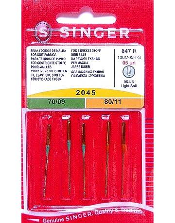 5 agujas originales Singer, para máquinas de coser, agujas de 2045,