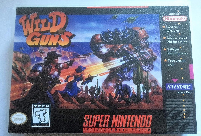 Amazon.com: Wild Guns (Super Nintendo, SNES) - Reproduction ...