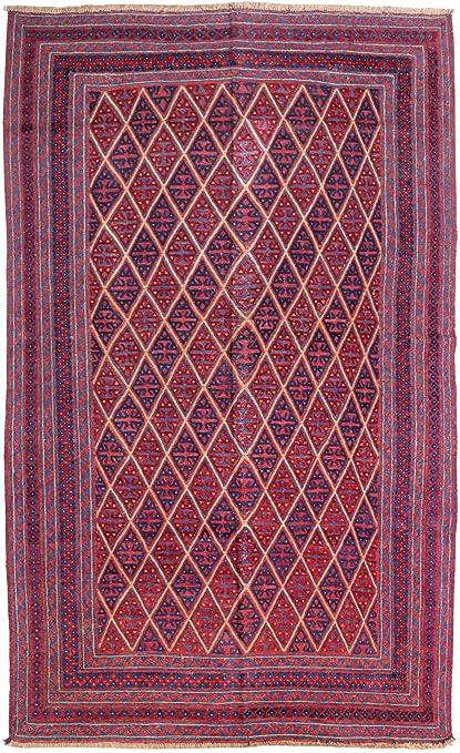 Amazon Com 7x9 Wool On Wool Oriental Folk Handmade Baluch Marvelous