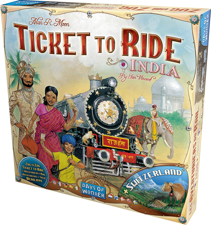 Days Of Wonder - Juego de tablero, 2 a 4 jugadores, mapas de India ...