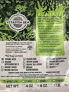 product image for VITAMINSEA Organic Dulse Whole Leaf - 8 OZ - Raw Atlantic Seaweed Vegan Certified (DW8)