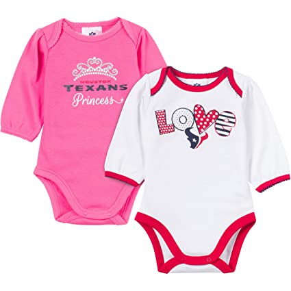 Image Unavailable. Image not available for. Color  NFL Houston Texans  Unisex-Baby 2-Pack Long-Sleeve Bodysuits ... 2ec9c8c6c