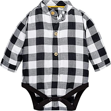 next Bebé Niño Body Pelele Estilo Camisa Cuello Mao A Cuadros ...