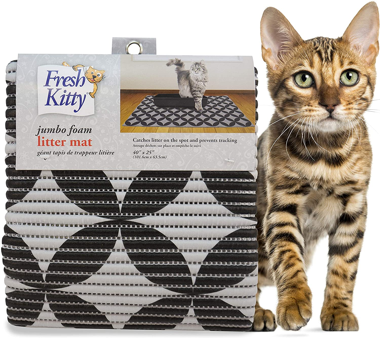 Fresh Kitty Water Resistant Durable XL Jumbo Foam Cat Litter Box Mat