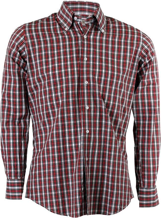 Camisa Fantasia Escocesa roja Rojo Rojo : Amazon.es