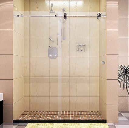 5 Foot Shower Doors.Diyhd 5ft Frameless Chome Stainless Steel Sliding Glass Shower Door Track Barn Shower Door Chrome Hardware