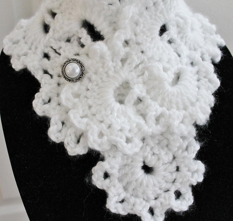 Amazon.com: Beautiful White Queen Anne\'s Lace Handmade Crochet ...