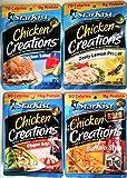Starkist CHICKEN CREATIONS Ultimate Variety 8 Pack, NEW for 2018! 2 Packs each of CHICKEN SALAD, ZESTY LEMON PEPPER…