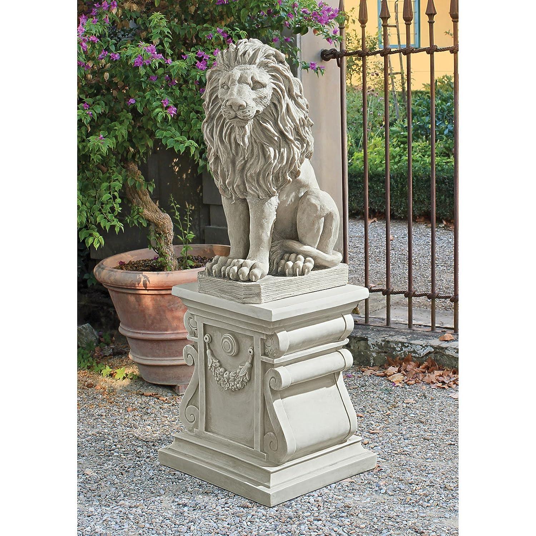 Amazoncom Design Toscano Mansfield Manor Lion Sentinel Statue