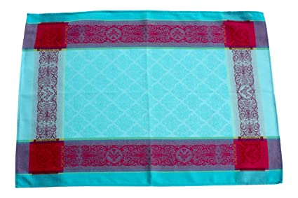 Amazon Com French Kitchen Towel Jacquard Turquoise Made In