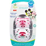 NUK Disney Baby Minnie Mouse Puller Pacifier in Assorted Colors and Styles, 0-6 Months (Size 1)