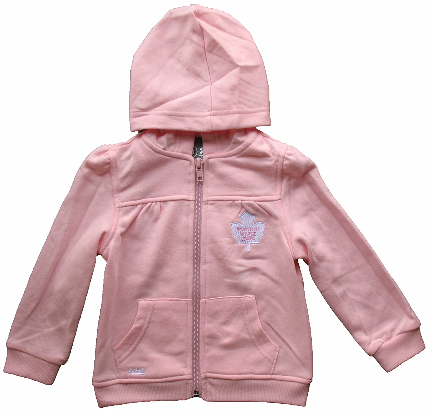 Toronto Maple Leafs Toddler Girls Pink Full-Zip Fleece Hooded Sweatshirt (2) Mighty Mac