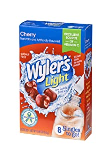 Wyler's Light Singles To Go Powder Packets, Water Drink Mix, Cherry, 96 Single Servings (Pack of 12)
