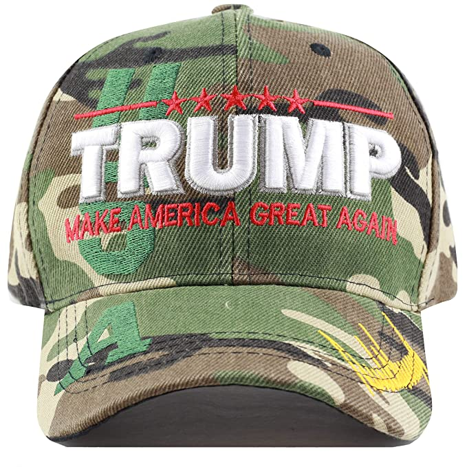 2adda7fd720 The Hat Depot Exclusive Trump Keep America Great/Make America Great Again  3D Signature Cap (Wood Camo): Amazon.ca: Clothing & Accessories