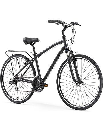 e317b3849db sixthreezero Body Ease Men's 21-Speed Comfort Road Bicycle, Matte Black, 26