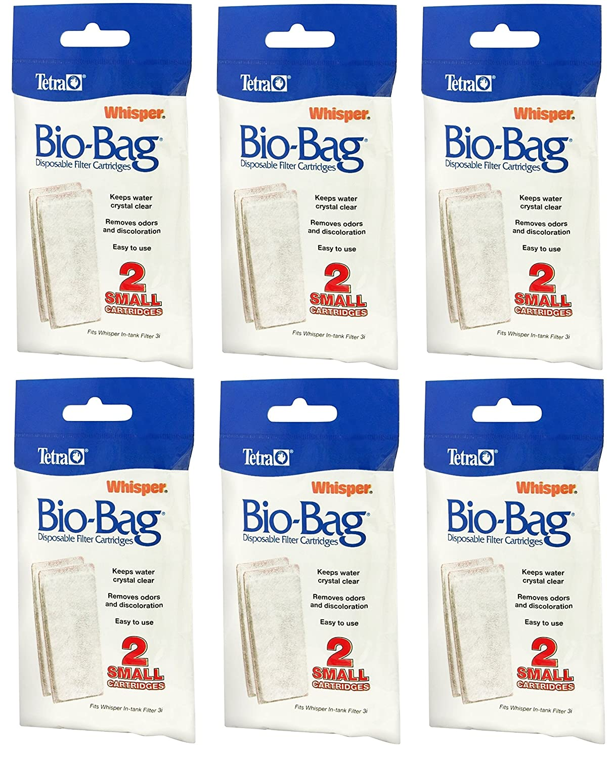 Tetra Whisper Assembled Bio-Bag Filter Cartridges Small 12 Total Filters (6 Packs with 2 Filters per Pack)