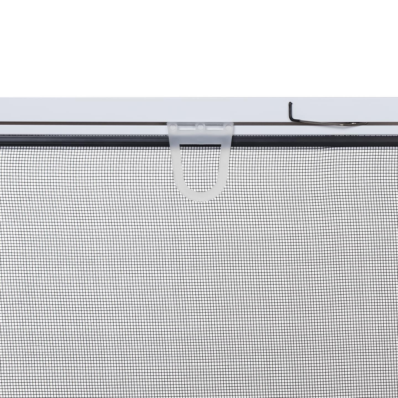 auf Ma/ß geschnitten oder komplett aufgebaut als Bausatz Braun oder Anthrazit Fliegengitter mit Alurahmen und hochwertigem Fiberglasgewebe in Schwarz Insektenschutz-Fenster Basic 100 x 120 cm in Wei/ß