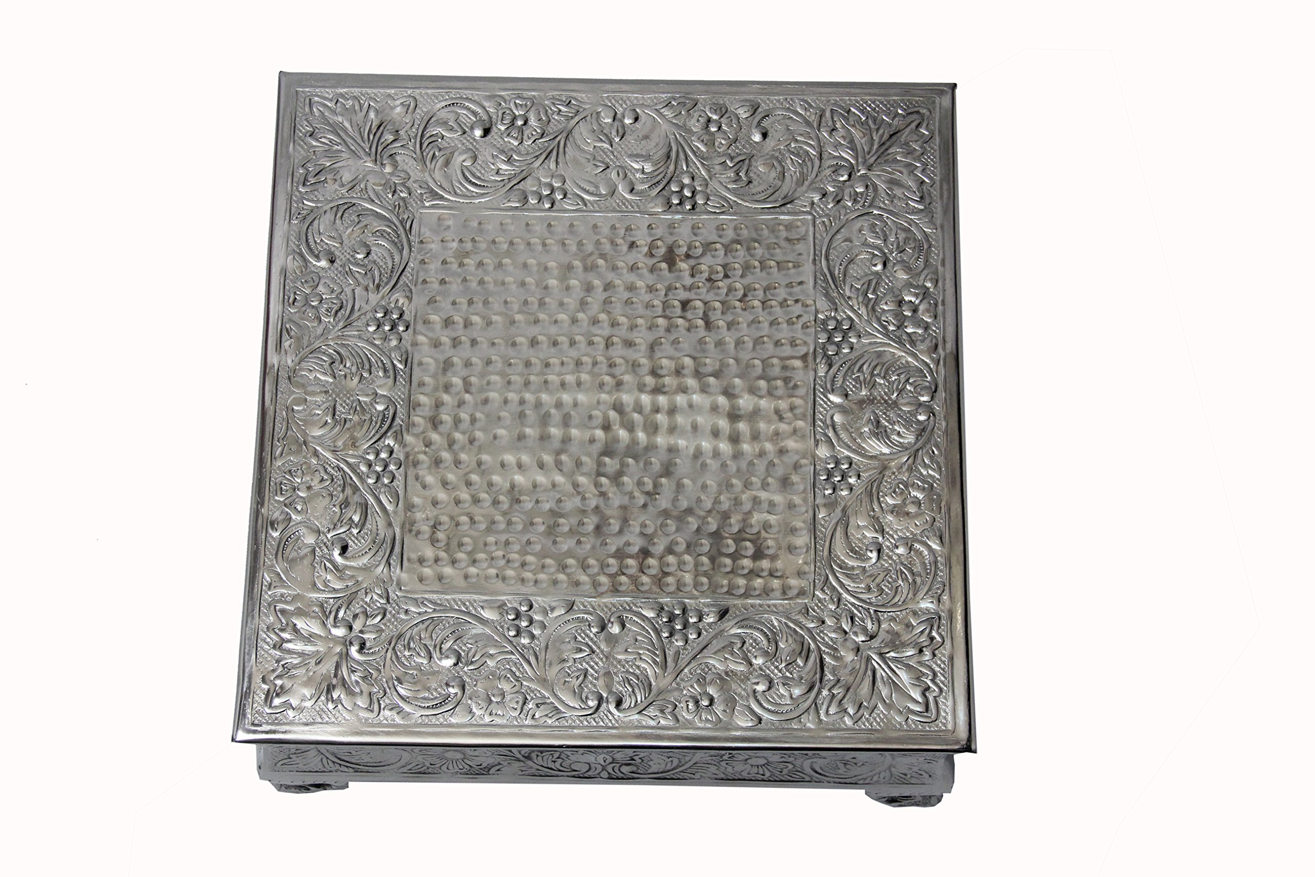 GiftBay Creations 751-22S Wedding Square Cake Stand, 22-Inch, Silver by GiftBay Creations (Image #6)
