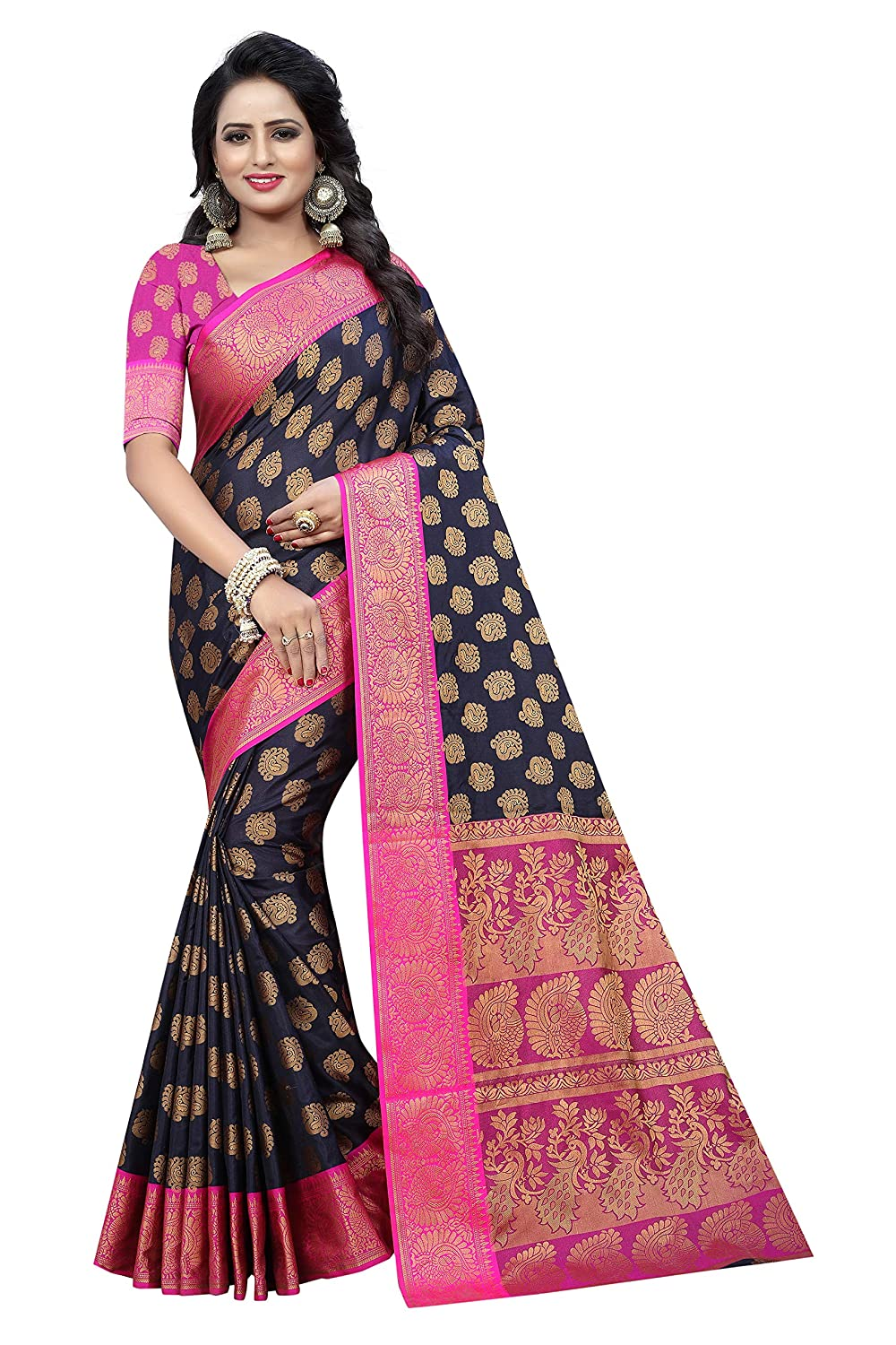 Synthetic with Blouse Piece Saree