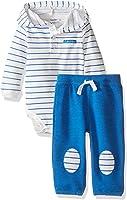 Calvin Klein Baby Boys' Hooded Bodysuit and Pant Set
