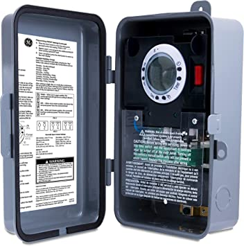 GE Heavy-Duty 7-Day Digital Box Timer Switch, Metal, Tamper Resistant,  Battery Backup, Universal Voltage, 120, 240, 277 VAC, NEMA 3R-Rated,  Indoor/Outdoor, Ideal for Pool Pumps, Water Heaters, 46537 - - Amazon.com   Ge Timer Switch Wiring Diagram For 220      Amazon