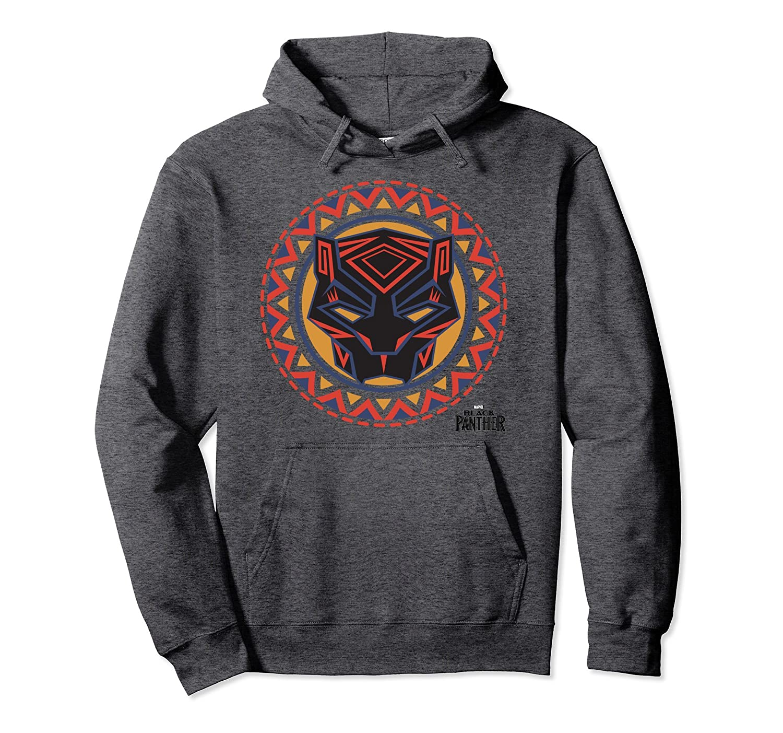 Black Panther Avengers Geometric Pattern Mask Hoodie-Bawle