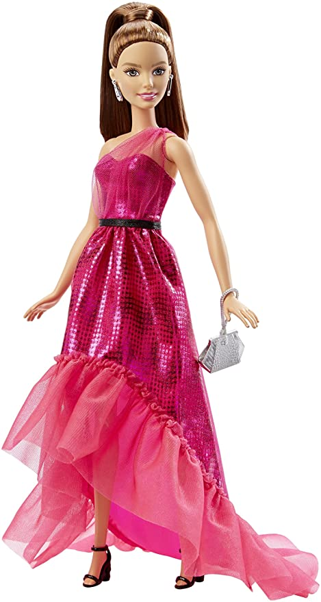 Amazon.com: Barbie Pink Fabulous Gown Doll #2: Toys & Games
