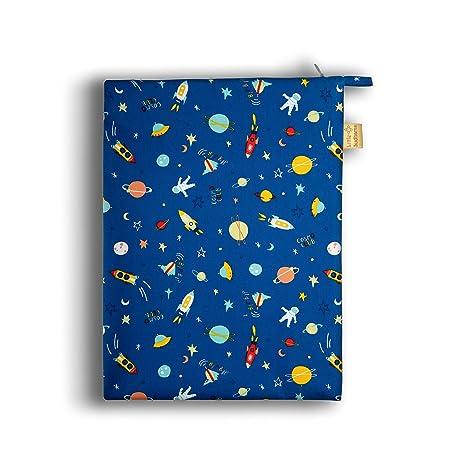 Little Sudhams Waterproof Wet Bag (24cm x 32cm) (Pack of 1, Blue -Space Design)