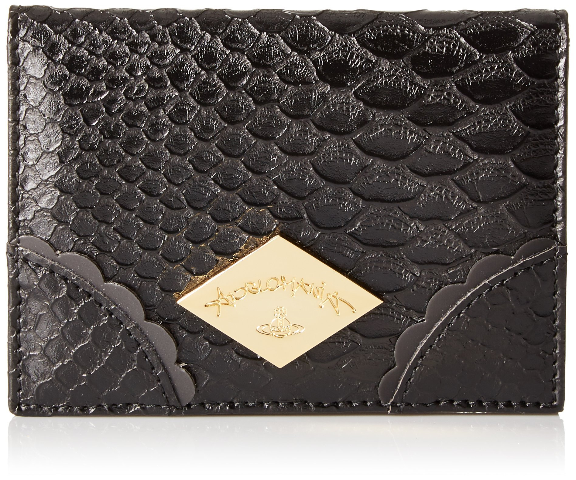 Vivienne Westwood Frilly Snake Credit Card Holder, Black, One Size by Vivienne Westwood