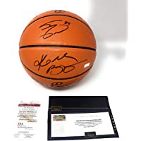 $499 » Kobe Bryant Shaquille O'Neal Los Angeles Lakers Dual Signed Autograph NBA Game Basketball JSA & Panini Authentic Certified