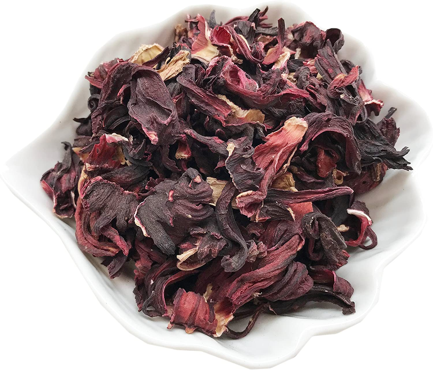 PEPPERLONELY 1 oz Organic Kosher Certified Botanical Dried Edible Hibiscus Flowers Petals (Whole)