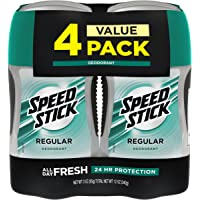 4-Pack Speed Stick Deodorant for Men 3 Ounce (Aluminum Free)