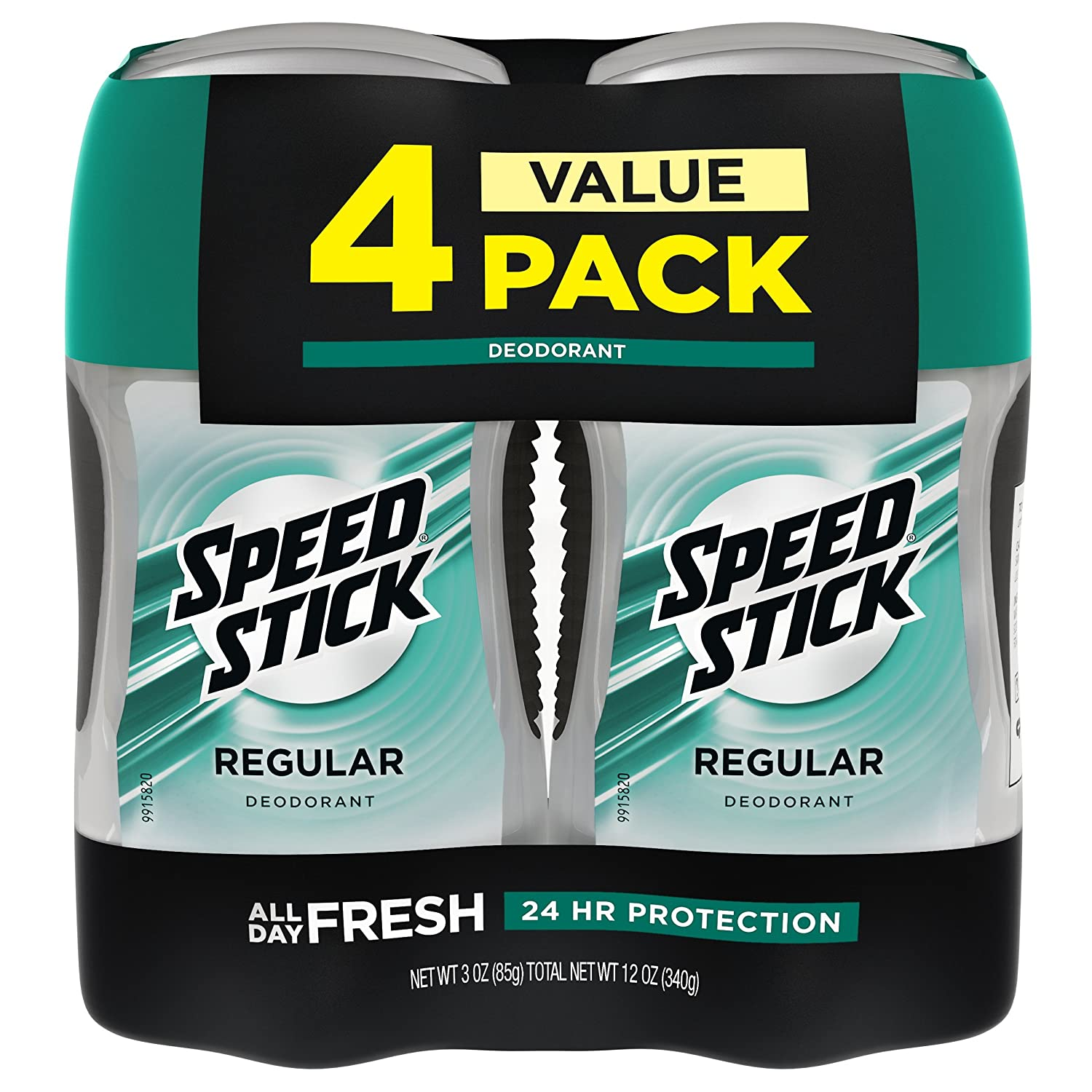 Speed Stick Deodorant for Men, Aluminum Free, Regular - 3 Ounce (4 Pack) : Beauty