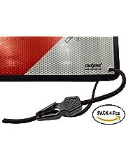 MAGMA Pack 4 Tensores Elásticos, Pulpos para Sujetar Señal V20, Portabicicletas, Ojales, Toldos, Lonas.Longitud Ajustable.