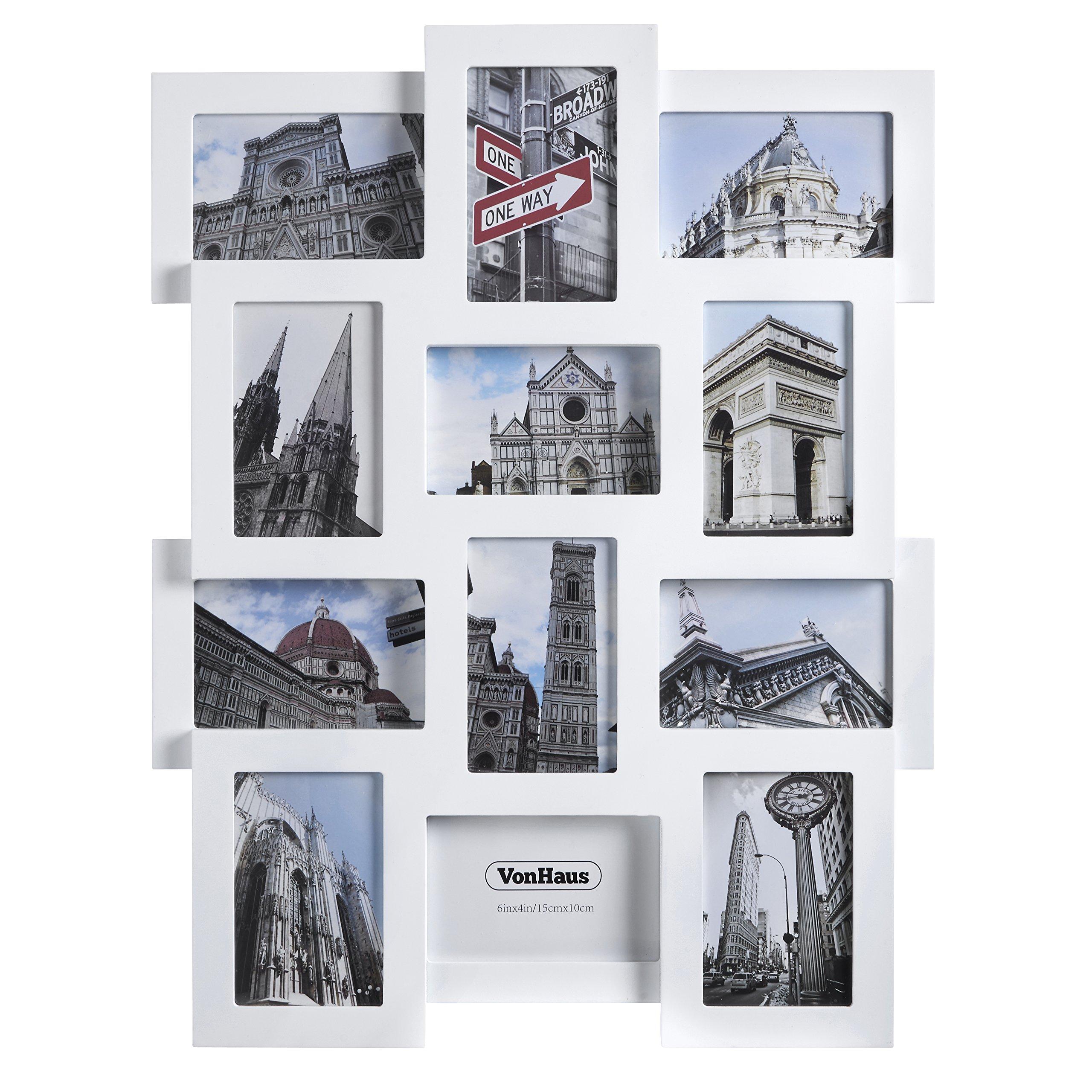 VonHaus Collage Picture Frames - Holds 12 Photographs - for 6 x 4 Photographs by VonHaus