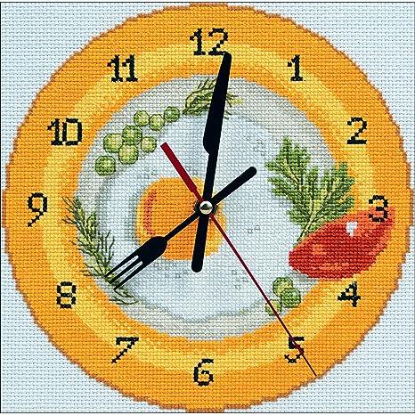 RTO RTM40009 - Kit de punto de cruz contado para reloj, 20 x 20 cm