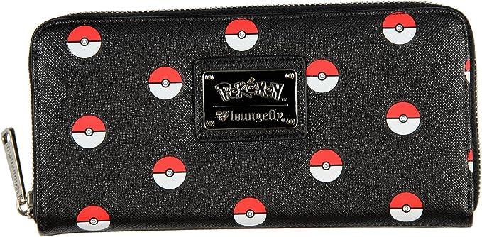 Pok/émon Pokeball Wallet Men Wallet red-Black-White Faux Leather,