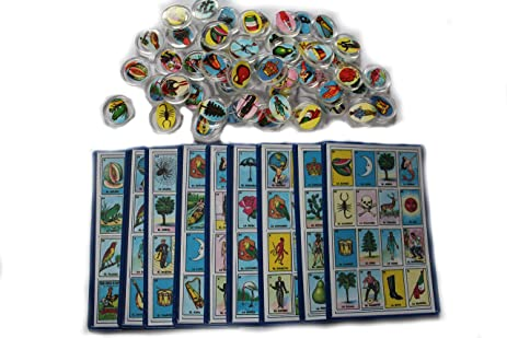 Plastic Loteria Mexicana Chips and Small Playing Cards