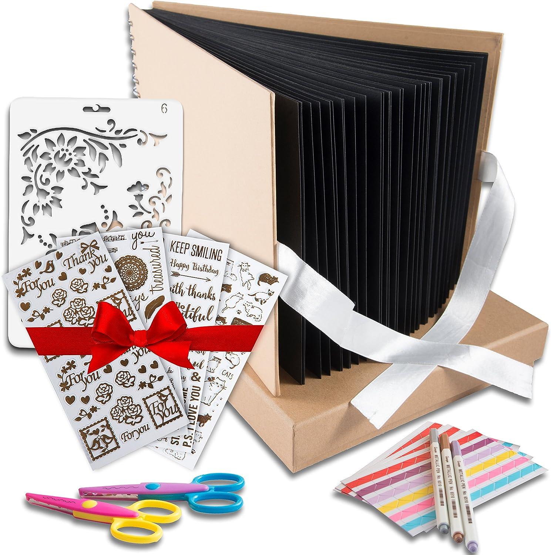 100 Hojas De Fotos Álbum De Fotos Scrapbook Boda Niños Libro de Recuerdos Regalos