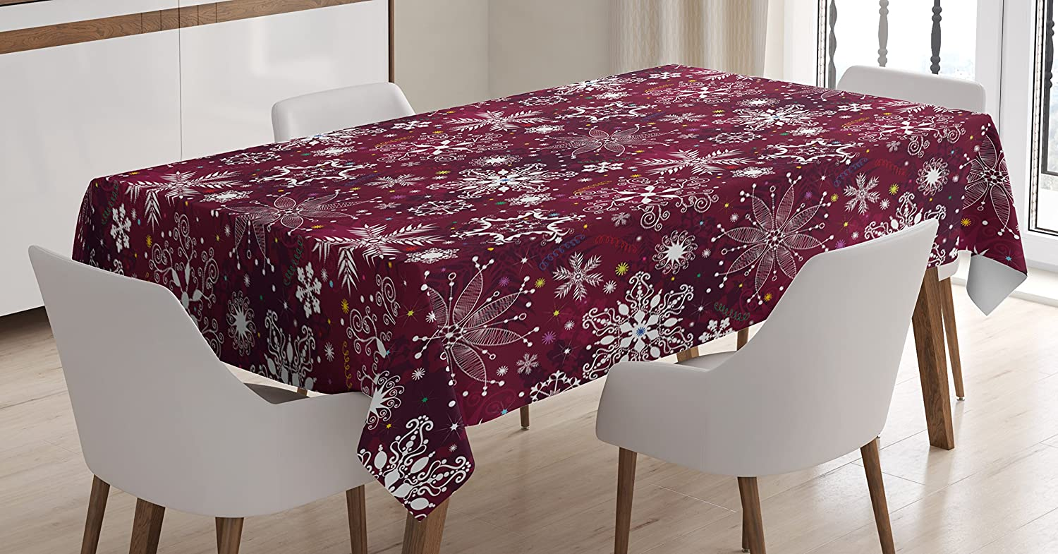 Ambesonne Space Decorations Tablecloth Galaxy Stars in Space Celestial Astronomic Planets in The Universe Milky Way Print Navy Purple Rectangular Table Cover for Dining Room Kitchen 60x90 Inch