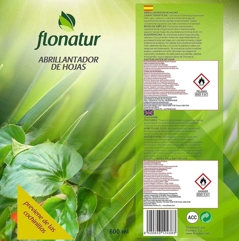 FLONATUR - Abrillantador de Hojas Flonatur 600 ml: Amazon.es: Jardín