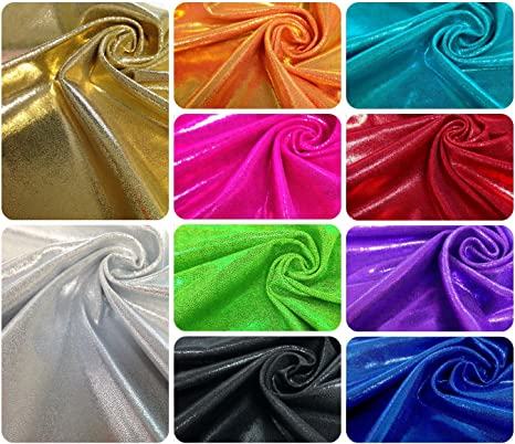 Foil Holographic Flower on ITY Matte Jersey 2 Ways Spandex Fabric