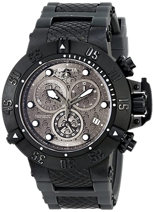 Amazon.com: Invicta Mens 15144 Subaqua Chronograph Black Dial Ion Plated Watch: Invicta: Watches