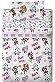 Viacom Paw Patrol Pink Parure de draps, algodón-poliéster, Rose, Lit 80/95(Twin), 200.0x 90.0x 25.0cm, lot de 3