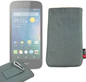 DURAGADGET Matte Charcoal Grey Smartphone Slip Case/Cover with Belt Loops - Suitable for Acer Liquid Z320 & Z330 Smartphone