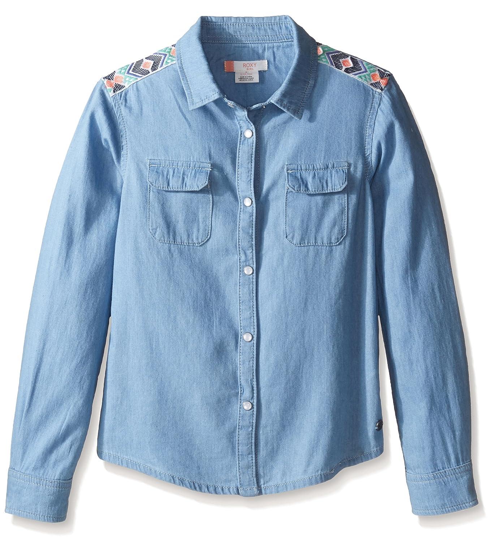 Roxy Girls Big Water Priorities Long Sleeve Button Up Shirt