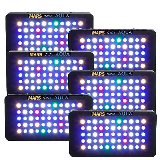 Pack de 6] marsaqua 165 W regulable acuario luz Fixture espectro ...