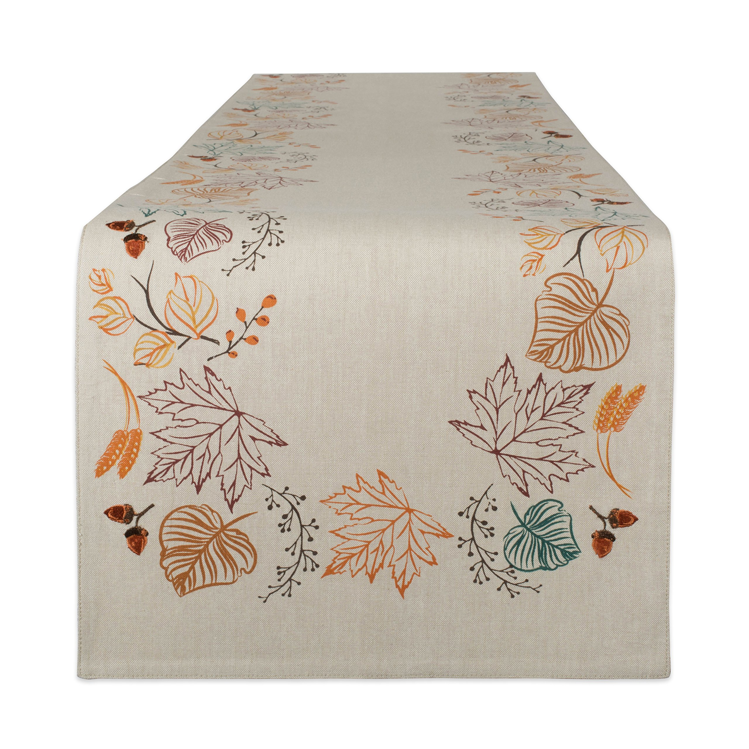 DII Cotton Table Runner, Autumn Leaves by DII