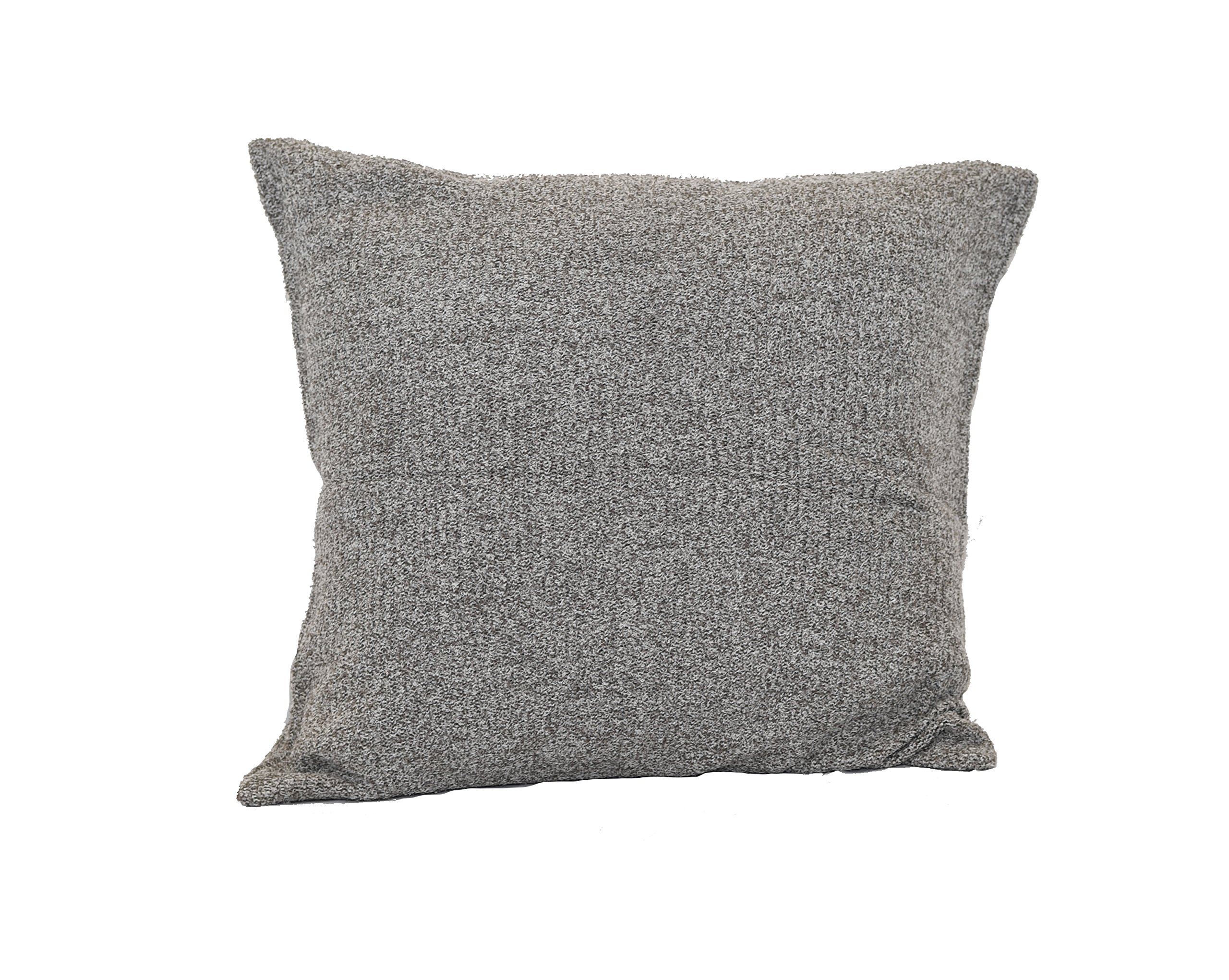 Barefoot Dreams CozyChic Lite Ribbed Pillow Cover With Insert (Cocoa / Pearl)