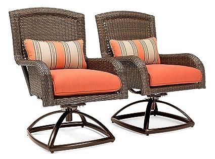 amazon com la z boy outdoor sawyer patio furniture swivel rocker